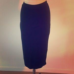 Rachel Pally Heavy Gauge Knit Black Pencil Skirt S